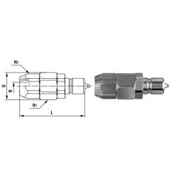 Compact Cupla PN TYPE ø6 x ø8 - Low Pressure