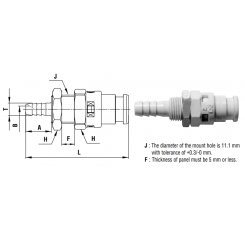 Cube Cupla 4 mm valve - PHB TYPE