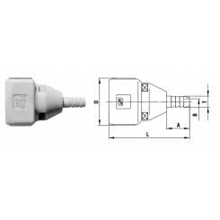 Cube cupla 4 mm valve - SH TYPE