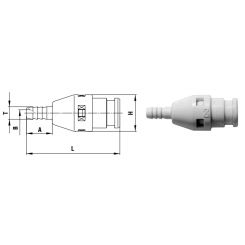 Cube Cupla 6 mm valve - PH TYPE
