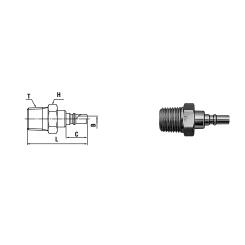 Micro cupla PM TYPE Rc 1/8 - Low Pressure