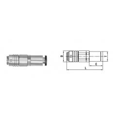 Micro cupla SC TYPE 6 mm - Low Pressure