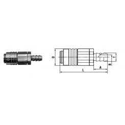 Micro cupla SH TYPE 4mm - Low Pressure