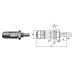 Micro cupla SHB TYPE 4mm - Low Pressure