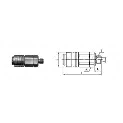 Micro cupla SM TYPE M5 X 0.8 - Low Pressure