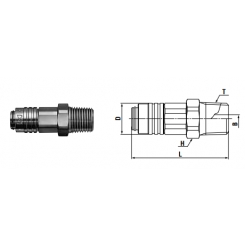 Micro cupla SM TYPE Rc 1/8 - Low Pressure