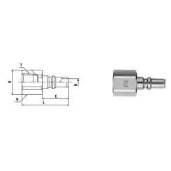 Small Cupla R 1/8 PF TYPE - Low Pressure