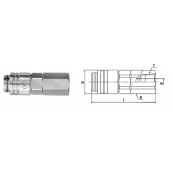Small Cupla R 1/8 SF TYPE - Low Pressure