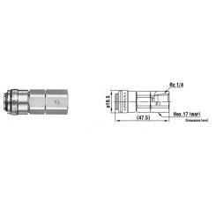 Super Cupla R 1/4 02SF TYPE