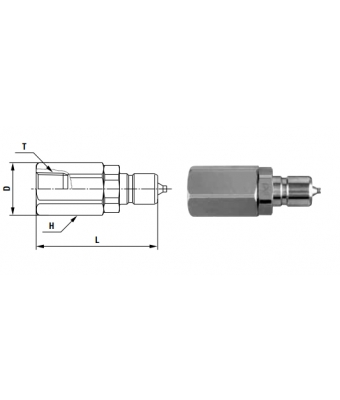 Compact Cupla PF TYPE R 1/8 - Low Pressure