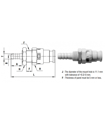 Cube Cupla 6 mm - PHB TYPE