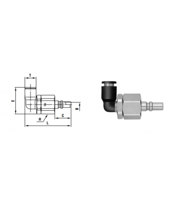Small Cupla PCL TYPE 8 mm - Low Pressure