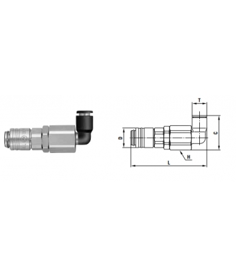 Small Cupla SCL TYPE 8 mm - Low Pressure